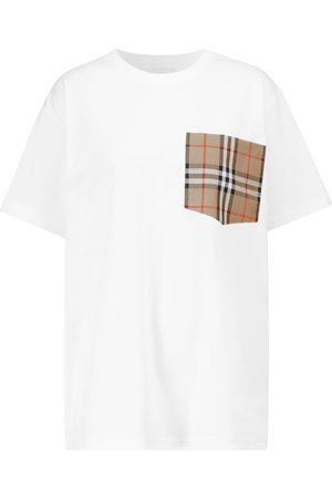 Burberry Dame Kortermede - Cotton-jersey T-shirt