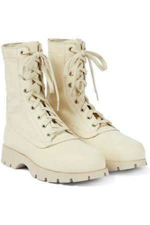 Jil Sander Dame Skoletter - Lace-up leather ankle boots