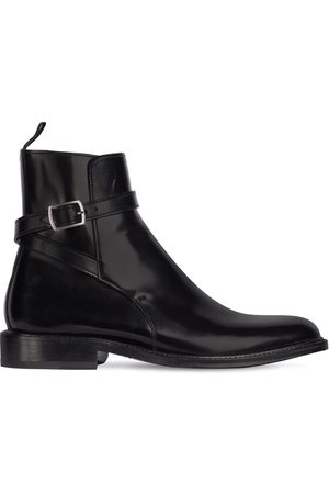 Saint Laurent Dame Skoletter - 20mm Army Brushed Leather Ankle Boots