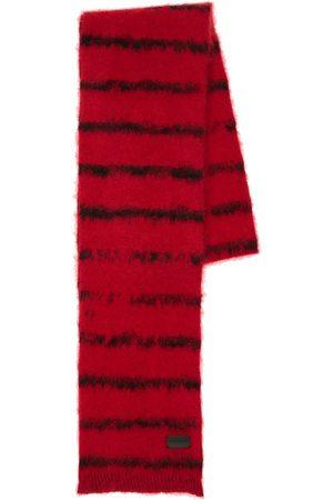 Saint Laurent Striped Wool Blend Scarf