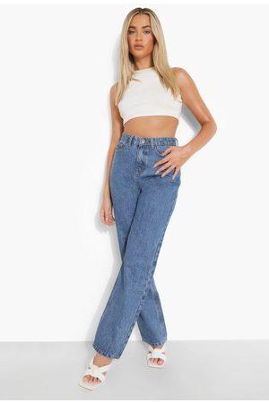 Boohoo High Rise Wide Leg Jeans