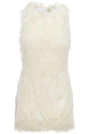 Saint Laurent Dame Ermeløse kjoler - Sleeveless Feathered Mini Dress