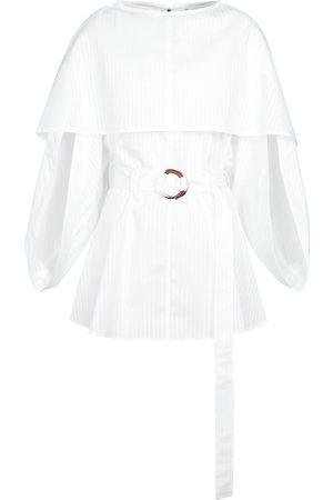 JW Anderson Belted cotton minidress