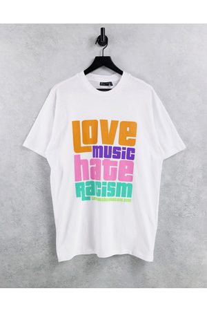 Crooked Tongues Kortermede - Love Music Hate Racism X ASOS Unisex T-shirt in White