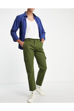 Sixth June Herre Cargobukser - Utility relaxed fit cargo trousers in khaki-Green