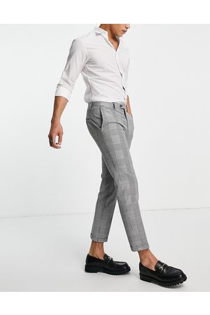 jack & jones Premium relaxed fit suit trousers in heritage check-Black