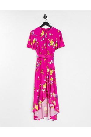 French Connection Floral printed tea dress in pink