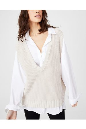 Cotton On Sleeveless knitted vest in -Neutral