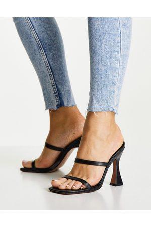 ASOS Nasia heeled mules in black