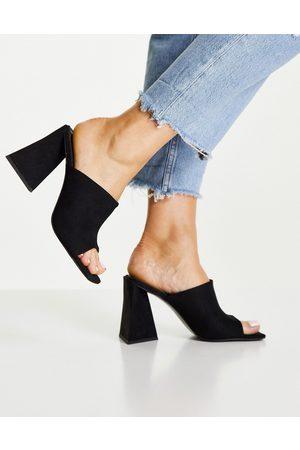 ASOS Dame Høyhælte sandaler - Nyla heeled mules in black