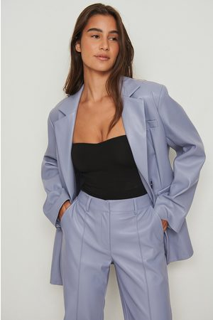 NA-KD Trend Dame Blazere - Oversized Maxiblazer I Pu