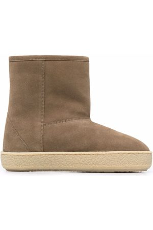 Isabel Marant Dame Skoletter - Shearling-lined ankle boots