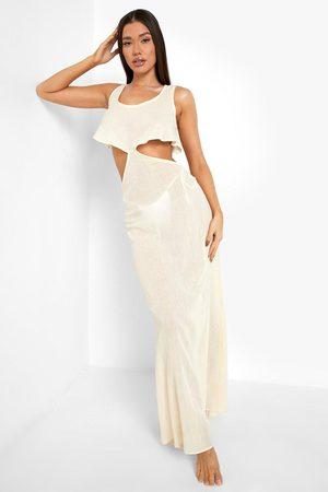 Boohoo Dame Maxikjoler - Cheesecloth Frill Cut Out Beach Maxi Dress