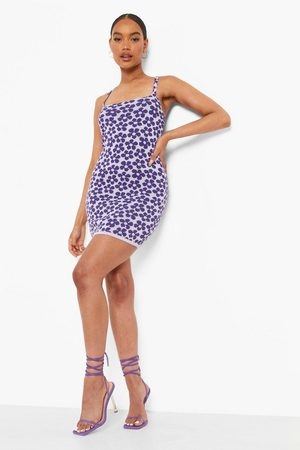 Boohoo Floral Print Knitted Mini Dress
