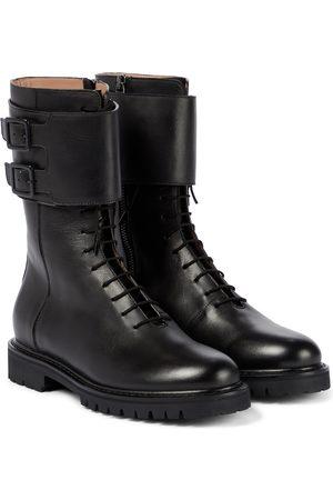 LEGRES Leather combat boots