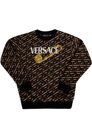 Versace Sweatshirts - Sweatshirt with Greek print