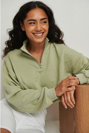 NA-KD Dame Hettegensere - Økologisk kort genser med glidelås