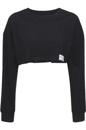 Adam Selman Sport Cropped Cotton T-shirt