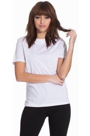 Selected Femme Dame Kortermede - Slfmy Perfect Ss Tee Box Cut B Noos Bright White