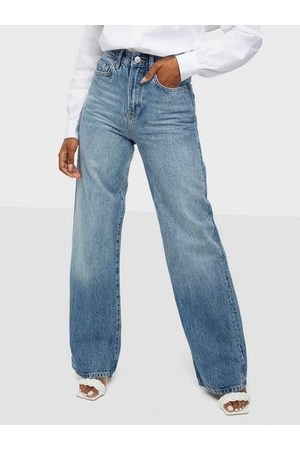 Pieces Dame Wide Leg - Pcflikka Ultra Hw Wide Jns Mb Bc