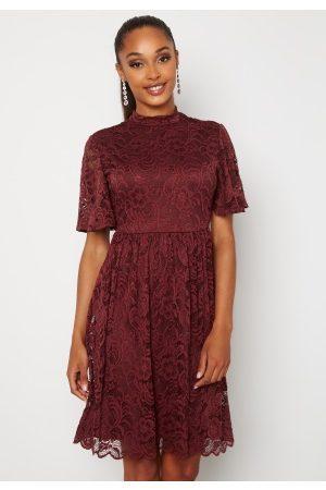 Happy Holly Li lace dress Wine-red 50