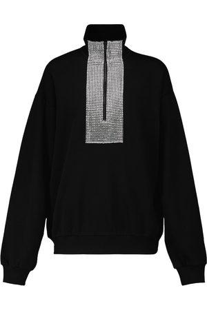 DAVID KOMA Embellished long-sleeved sweatshirt