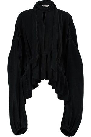 Balenciaga Tie-neck satin blouse