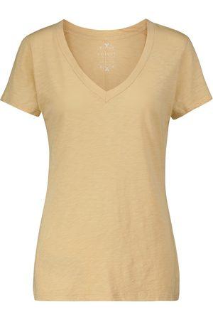 Velvet Lilith V-neck cotton T-shirt