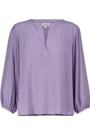 Velvet Eliza pintucked blouse