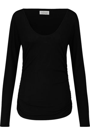 Velvet Denise stretch-cotton top