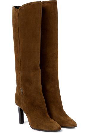 Saint Laurent Jane 90 suede knee-high boots