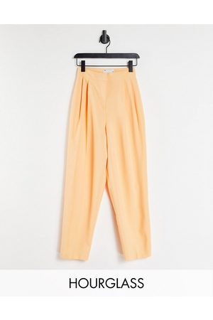 ASOS Hourglass mansy tapered trouser in coral-Pink