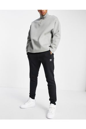 adidas Herre Joggebukser - Essentials slim fit joggers with small logo in black