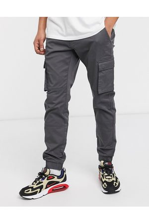 Only & Sons Slim fit cargo with cuffed bottom in grey