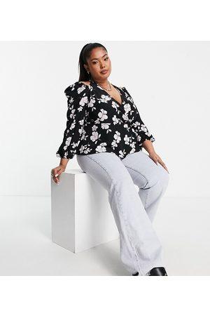 Fashion Union Halter wrap blouse-Multi