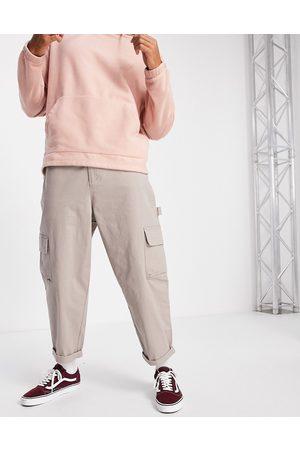 ASOS DESIGN Herre Chinos - Carpenter wide leg trousers in -Neutral