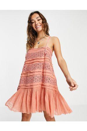 Free People Dame Bodycon kjoler - Shailee slip dress in rose-Pink