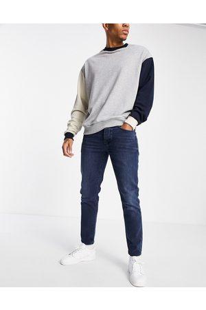SELECTED Herre Skinny - Slim tapered jeans in blue
