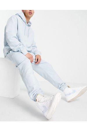 Topman Herre Sett - Co-ord jogger in bleach washed blue