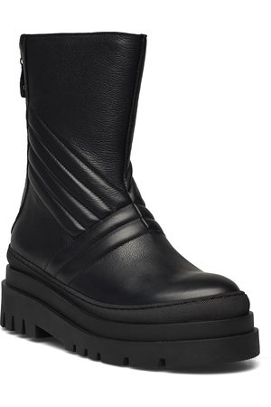 Bianco Biadema Zip Boot Shoes Boots Ankle Boots Ankle Boot - Flat