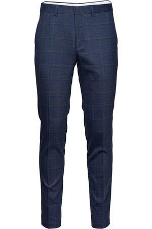 Selected Homme Slhslim-Mylostate Flex Bl Gry Chk Trs B Dressbukser Formelle Bukser