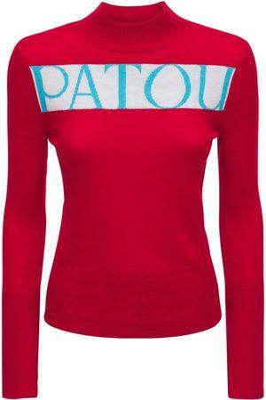 PATOU Logo Wool & Cashmere Knit Sweater