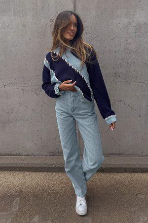 Amalie Star x NA-KD Dame High waist - Økologiske jeans