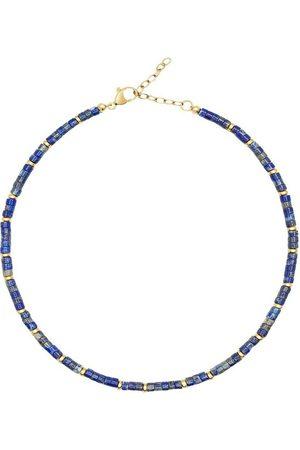 Nialaya Dame Halskjeder - Heishi Blue Lapis Choker with Gold