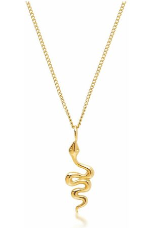 Nialaya Gold Necklace with Mini Snake Pendant