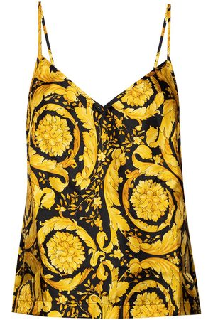 Versace Silk top with straps