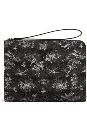 Giuseppe Zanotti Herre Clutches - Fabian botanical-print clutch bag
