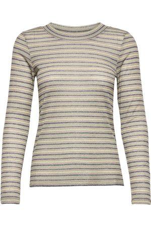 ICHI Ihferona Ls3 T-shirts & Tops Long-sleeved Beige