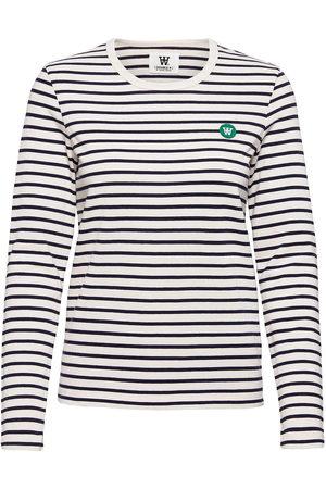 WoodWood Moa Stripe Long Sleeve T-shirts & Tops Long-sleeved Multi/mønstret