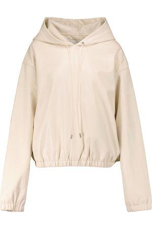 Frankie Shop Agata faux leather hoodie
